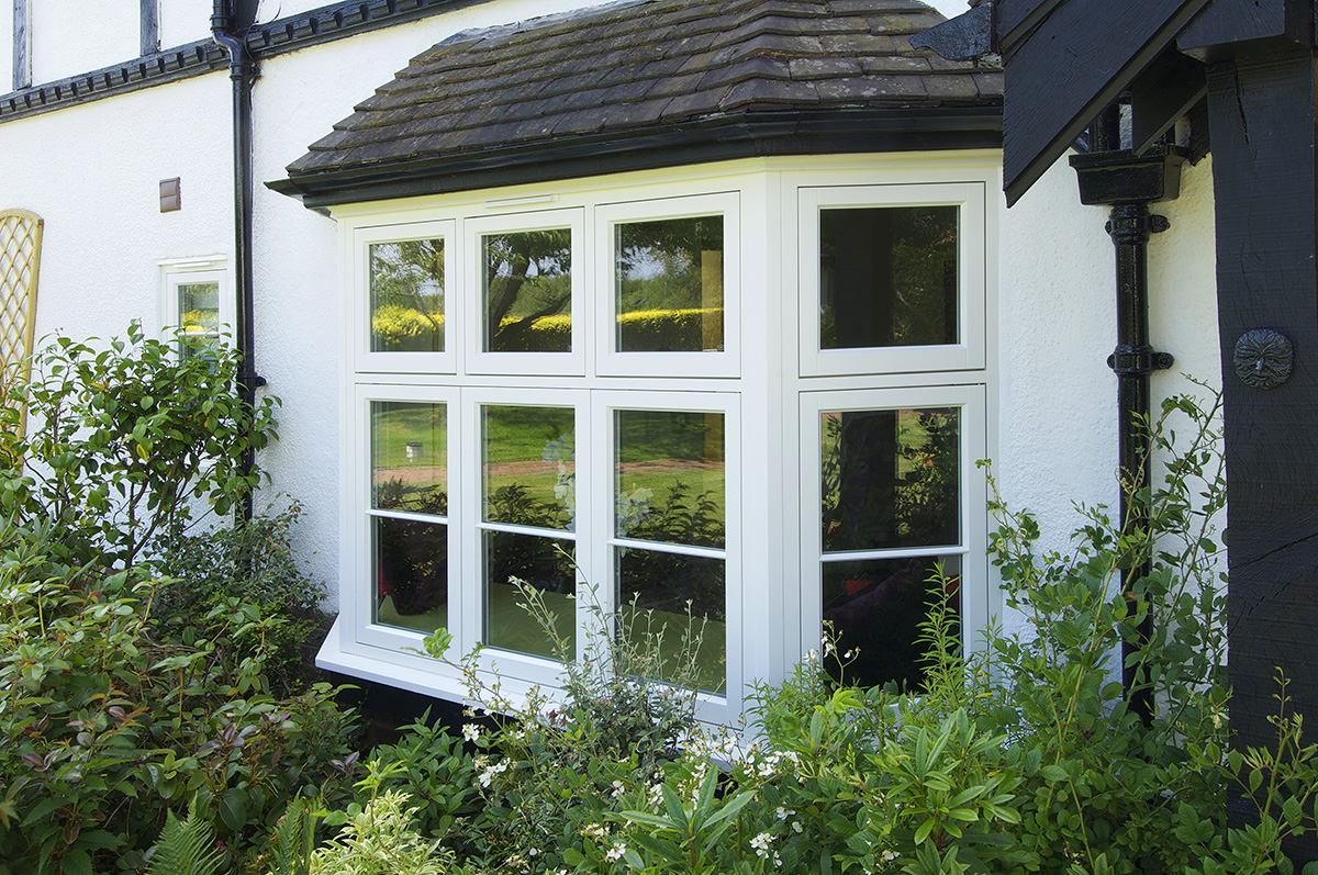 timber framed bay window