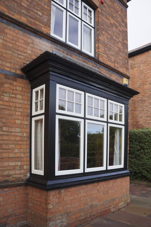 Heale deco casement bay window side view