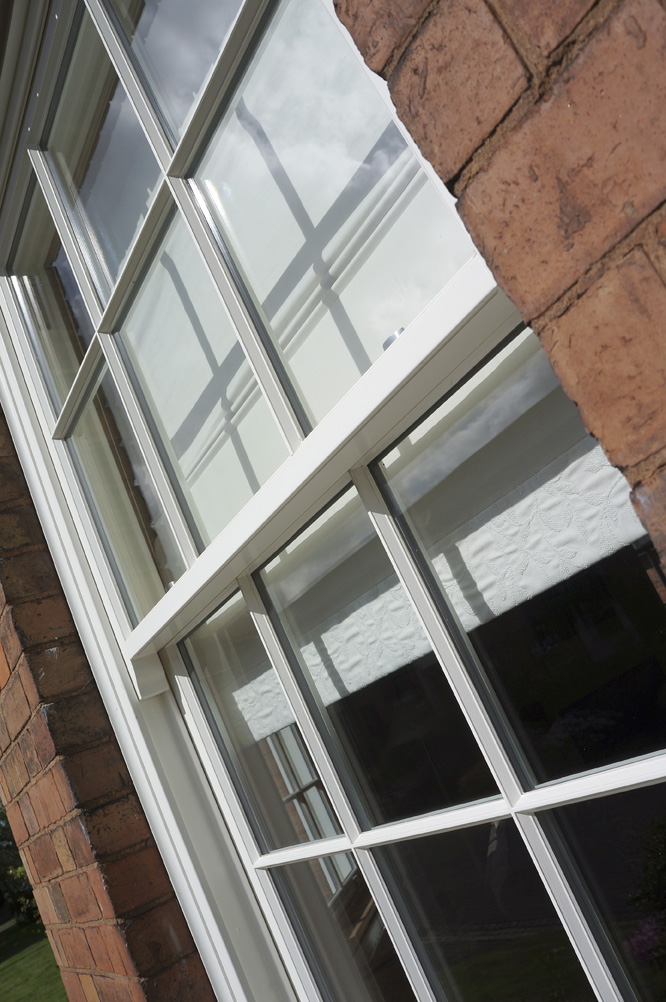 Wooden sash windows fitted in Leamington Spa