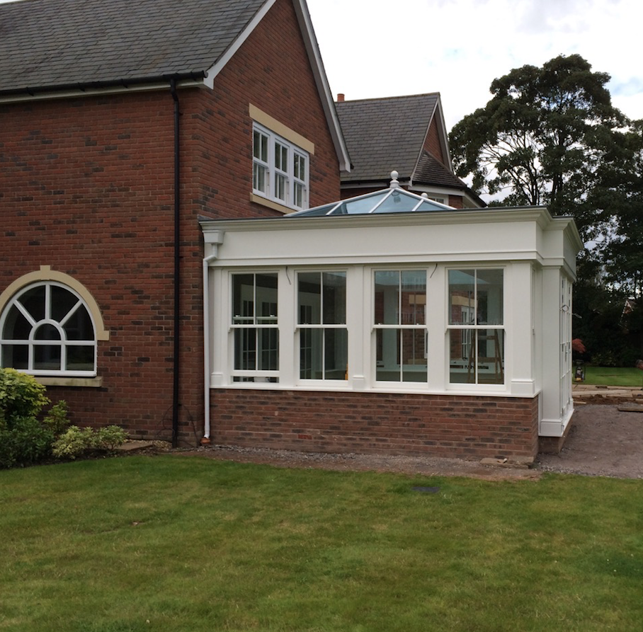 Timber framed orangery conservatory Leamington Spa