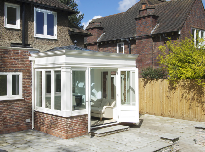 Wooden framed orangery Leamington Spa