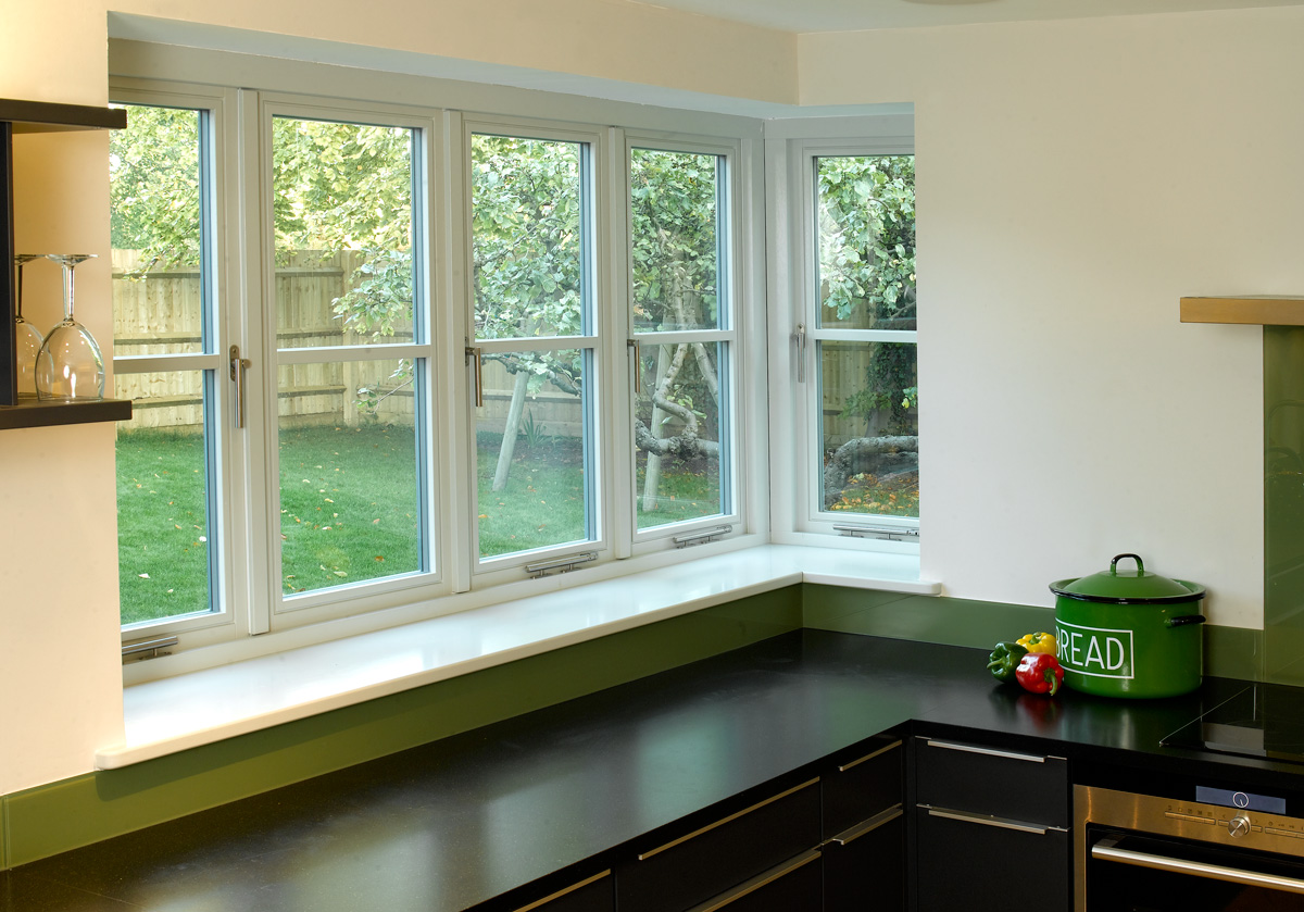 contemporary flush timber casement window Birmingham