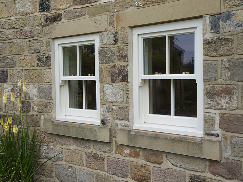 box sash window in cream