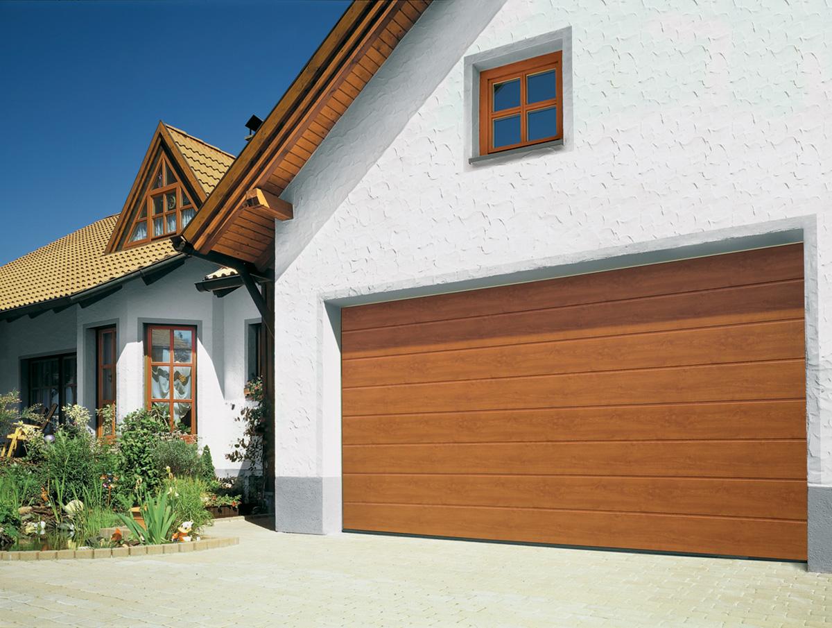 golden oak wooden garage doors