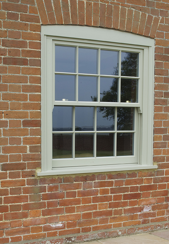 Hidden spring Box Sash window in wood Birmingham