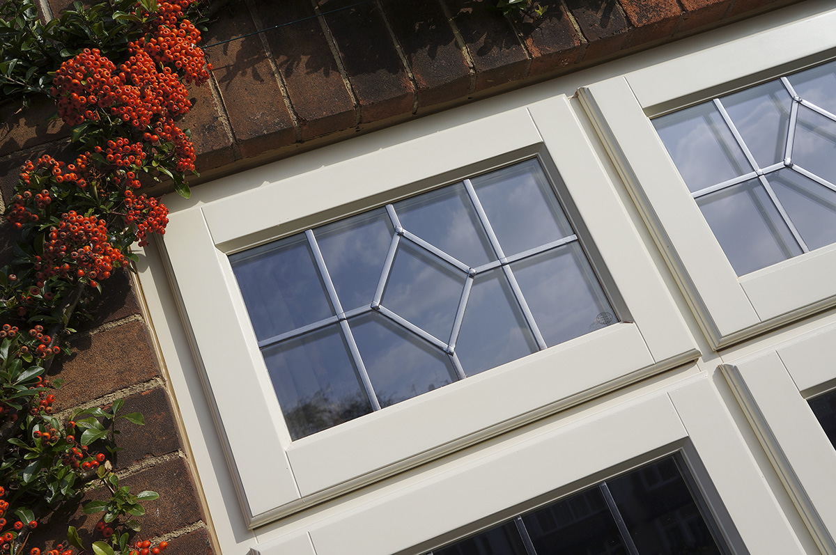 off white lipped storm casement window top opener lead detail
