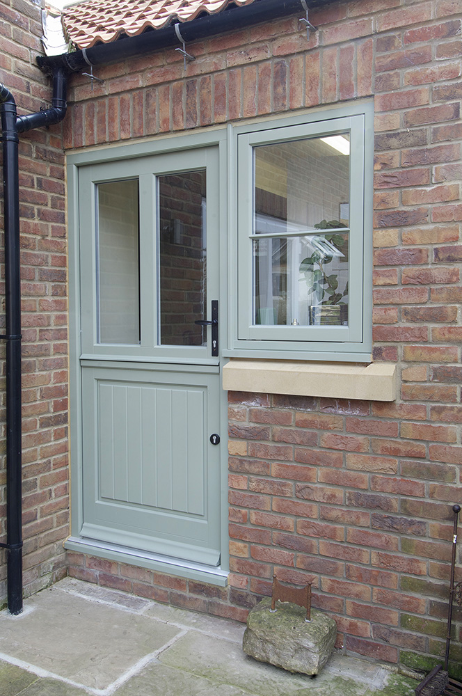 Stable front door doors harborne sash windows front for Exterior back doors with glass