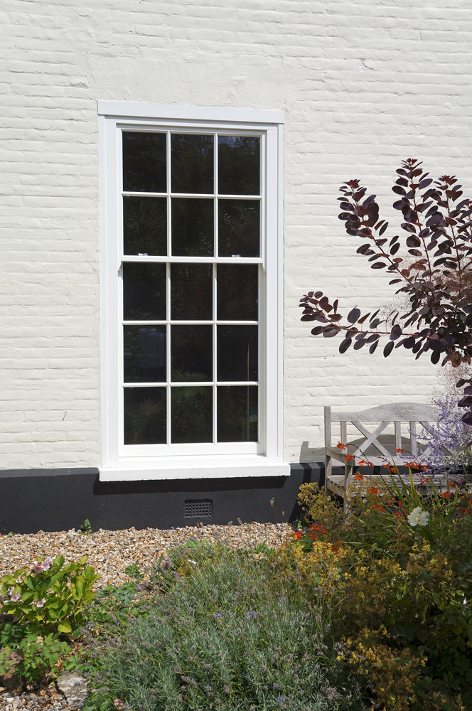 slim box timber sash window Solihull
