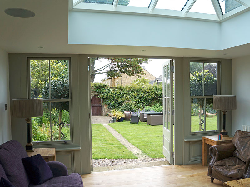 timber conservatory installation in Leamington Spa