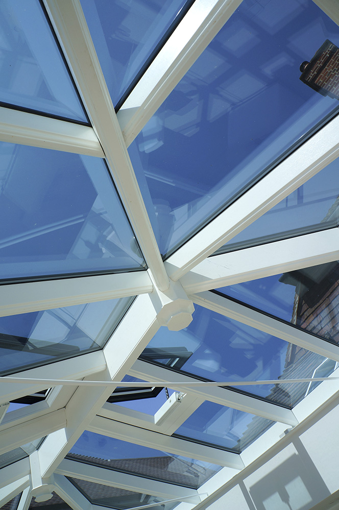 timber orangery roof lantern bars