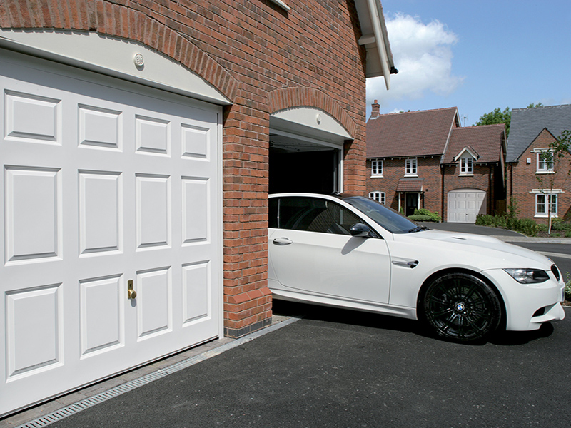white up and over garage door panels